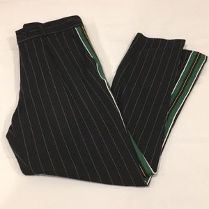 NWT Zara Pinstripe Jogging Pants with Side Stripe